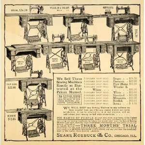 1903 Ad Sewing Machines  Drop Head Needle 5 Drawer